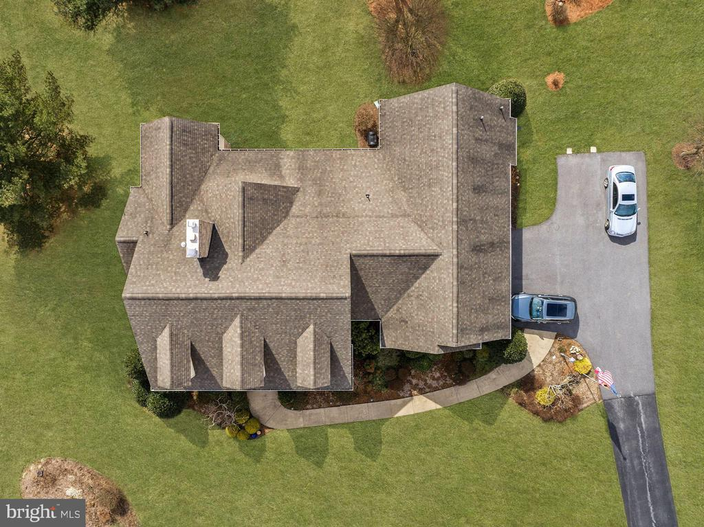 View directly above the home. - 2407 FLAG MARSH RD, MOUNT AIRY