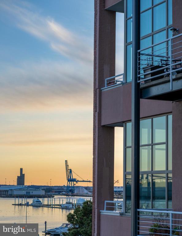 View from balcony at sunset. ahhhh.... inspiring! - 2901 BOSTON ST #214, BALTIMORE