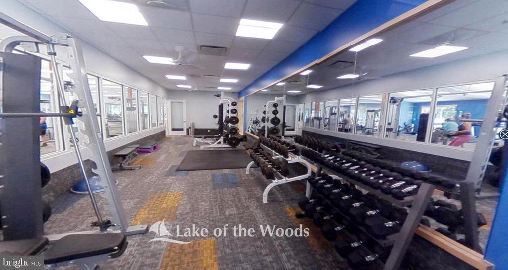 Fitness center. - 509 MT PLEASANT DR, LOCUST GROVE