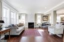 with gas fireplace and leger stone surround - 5536 30TH PL NW, WASHINGTON