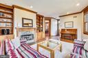 Family Room with gas fireplace - 201 W WALNUT ST, ALEXANDRIA