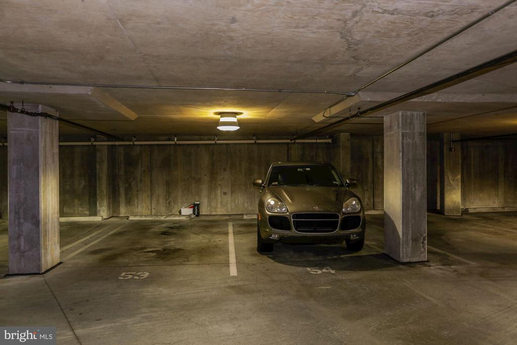Two garage parking spaces/elevator entry to unit - 2501 WISCONSIN AVE NW #104, WASHINGTON