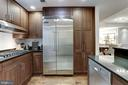 Gourmet kitchen with gas 6-burner cooktop - 2501 WISCONSIN AVE NW #104, WASHINGTON