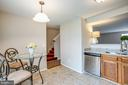 Tiled floors with eat-in kitchen - 304 SEDGWICK CT, STAFFORD
