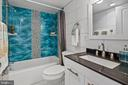 Renovated Full Bath - 4601 N PARK AVE #1706, CHEVY CHASE