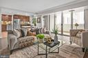 Open Floor Plan Dining, Living, Kitchen Area - 4601 N PARK AVE #1706, CHEVY CHASE