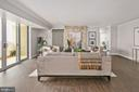 Bright, Open Living Space w Natural Light - 4601 N PARK AVE #1706, CHEVY CHASE