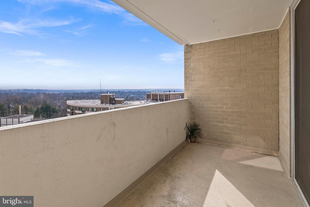 Balcony with Unobstructed Views - 4601 N PARK AVE #1706, CHEVY CHASE