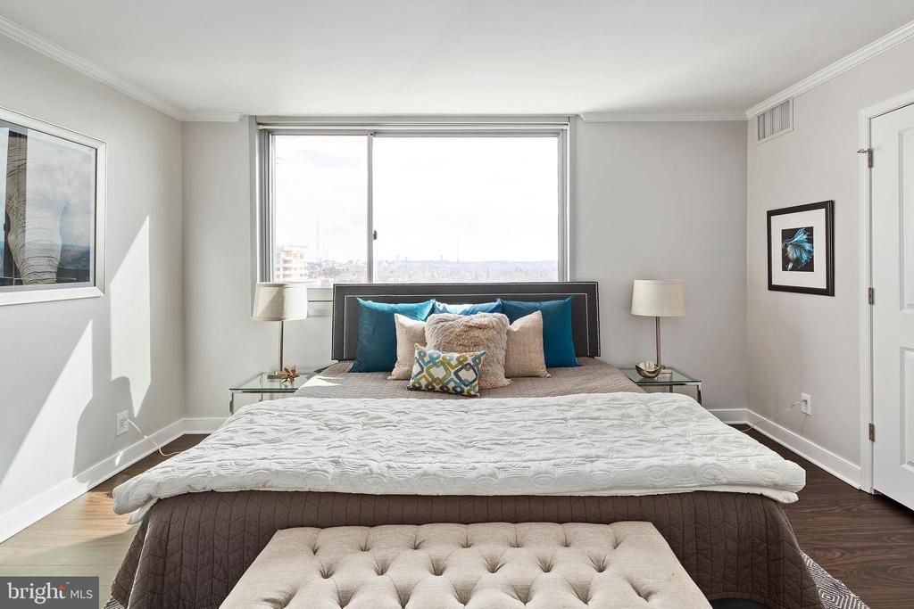 Bright and Open Master Bedroom - 4601 N PARK AVE #1706, CHEVY CHASE