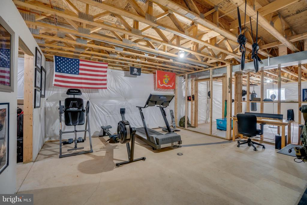 Section of Basement currently used as a Home Gym - 81 SENTINEL RIDGE LN, STAFFORD