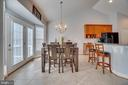 Breakfast Area: Bow Windows & French Doors - 81 SENTINEL RIDGE LN, STAFFORD