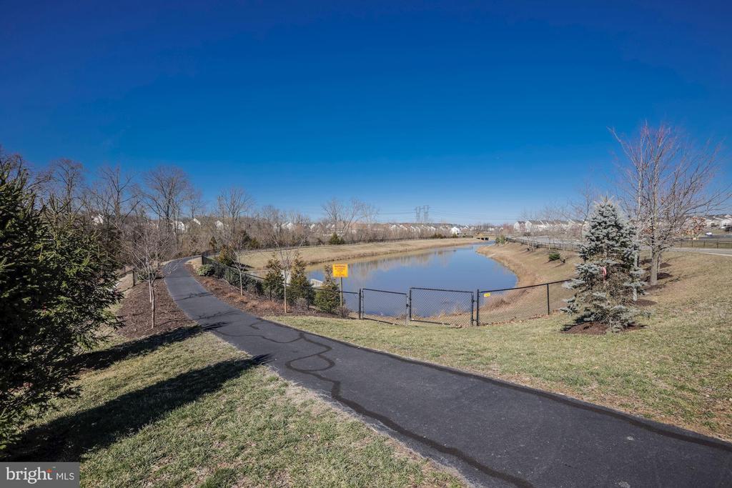 Front lot:  jogging & walking path around pond - 25558 MINDFUL CT, ALDIE