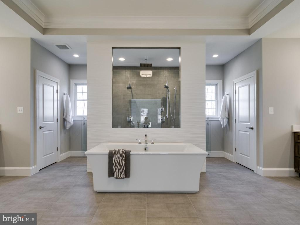 Free standing tub and incredible dual entry shower - 9978 BLACKBERRY LN, GREAT FALLS