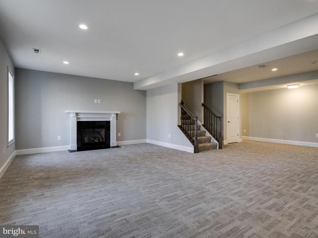 Lower level rec room with fireplace - 9978 BLACKBERRY LN, GREAT FALLS