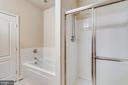 Upper level master bath - 363 BELT PL, GAITHERSBURG