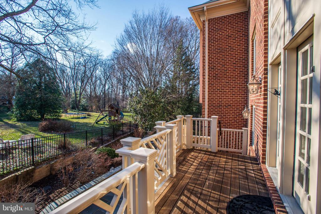 open view from deck off family room - 3818 N RANDOLPH CT, ARLINGTON