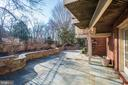 Open views from deck and expansive patio - 3818 N RANDOLPH CT, ARLINGTON