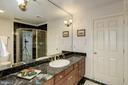 big shower, and generous vanity in 5th bathroom - 3818 N RANDOLPH CT, ARLINGTON