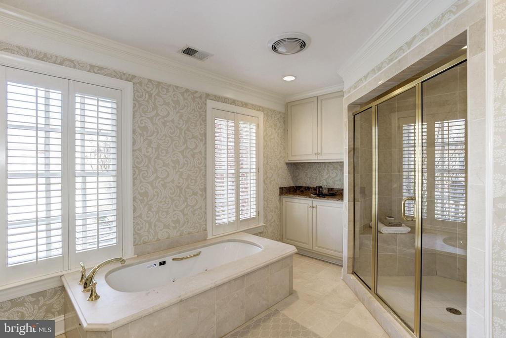 soaking tub  and storage in master bathroom - 3818 N RANDOLPH CT, ARLINGTON
