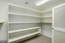 built in shelving in lower level storage room - 3818 N RANDOLPH CT, ARLINGTON