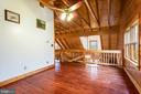 Upper level loft balcony - 33150 HUMMINGBIRD LN, LOCUST GROVE