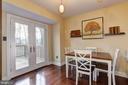 Breakfast Room with Deck Access - 7924 RUSTLING BARK CT, ELLICOTT CITY