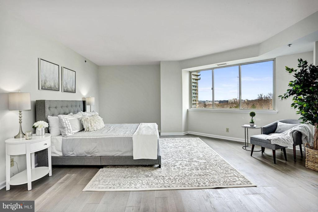 Oversized master bedroom with tree views - 5600 WISCONSIN AVE #902, CHEVY CHASE