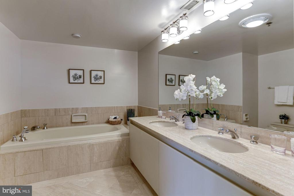 Master bath with jetted tub - 5600 WISCONSIN AVE #902, CHEVY CHASE