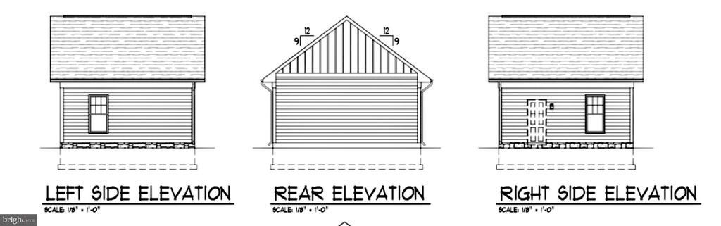 Garage elevation - LOT 55A VINE STREET, HERNDON