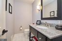 Updated powder room - 914 ROLLING HOLLY DR, GREAT FALLS