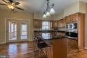 Gourmet kitchen with view to screened-in gazebo. - 11 LINDSEY LN, STAFFORD