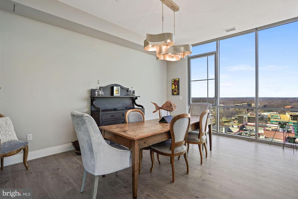 Formal dining room with views - 930 ROSE AVE #PH2102, ROCKVILLE
