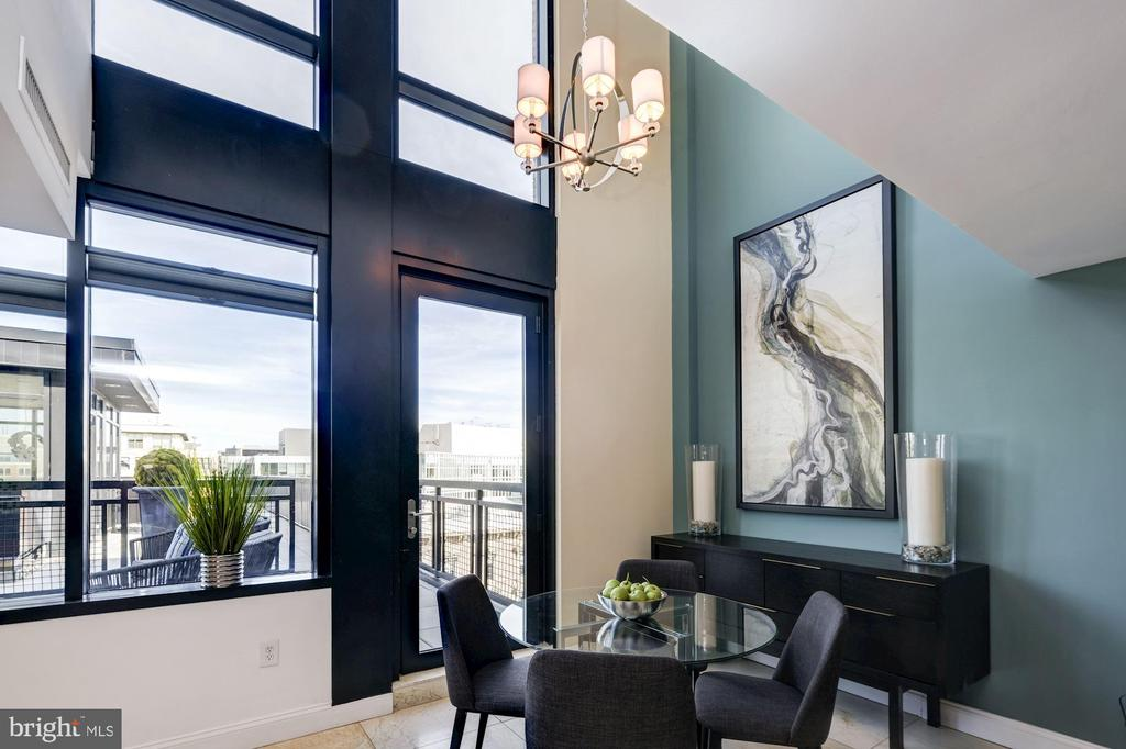 Dramatic High Ceiling With Wall Of Glass - 912 F ST NW #1106, WASHINGTON