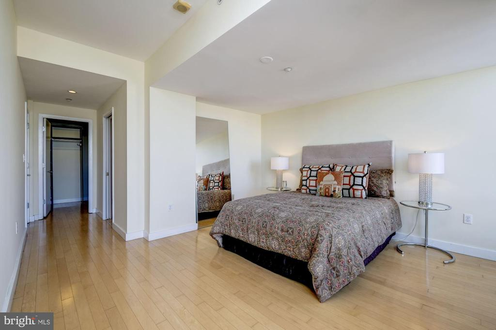 Master Bedroom Easily Fits King Sized Bed - 912 F ST NW #1106, WASHINGTON