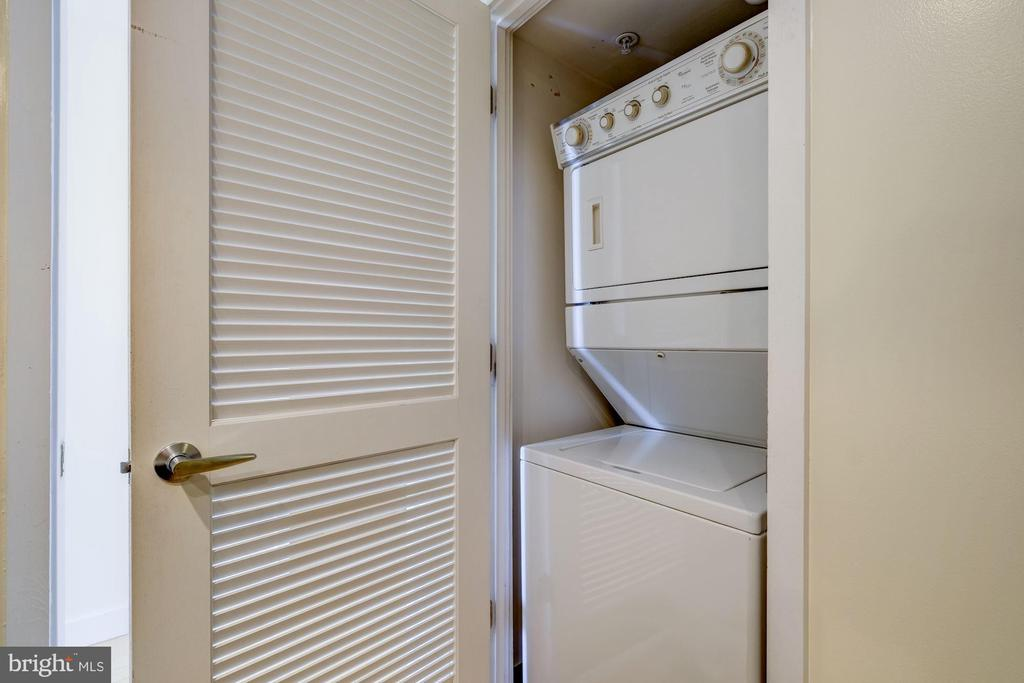 Washer Dryer in Master Bedroom Bathroom - 912 F ST NW #1106, WASHINGTON