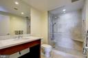 Guest Bath With Tan Marble And Spa Shower - 912 F ST NW #1106, WASHINGTON