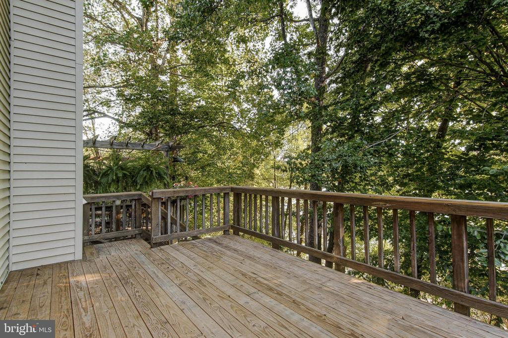 Deck with Summer View - 15757 WIDEWATER DR, DUMFRIES