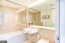 Sleek bathroom with soaking tub/shower - 925 H ST NW #707, WASHINGTON