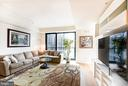 Living area with floor to ceiling windows - 925 H ST NW #707, WASHINGTON