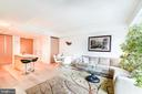 Living area and dining area - 925 H ST NW #707, WASHINGTON