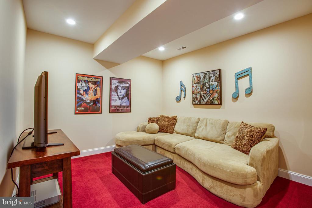 Gaming room in the basement - 10408 LAUREL RIDGE WAY, FREDERICKSBURG
