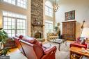 Gas fireplace for chilly evenings or cozy days - 10408 LAUREL RIDGE WAY, FREDERICKSBURG