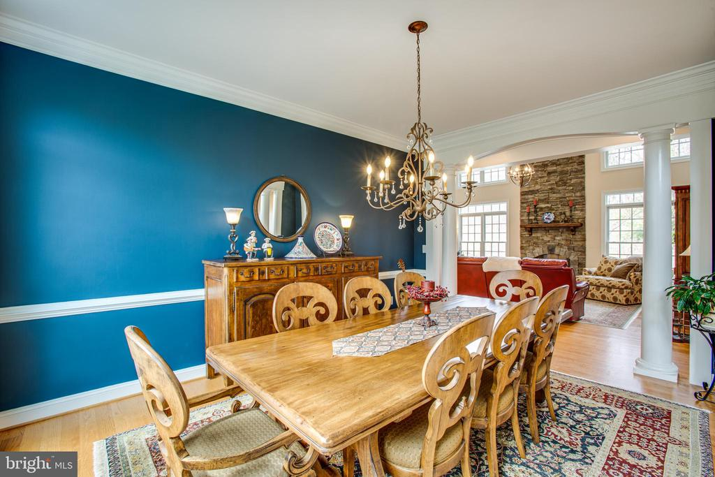 Dining room can accommodate large table - 10408 LAUREL RIDGE WAY, FREDERICKSBURG
