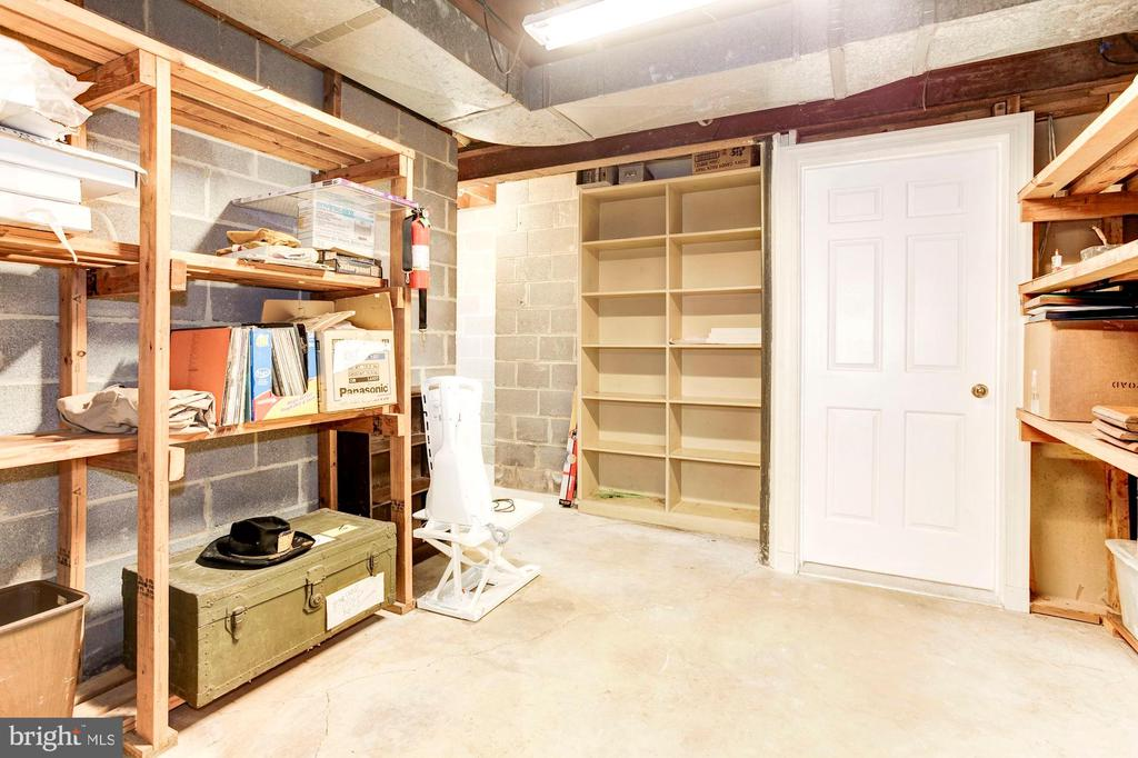 Basement storage area. - 11726 WINTERWAY LN, FAIRFAX STATION