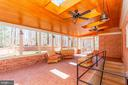 Screened-in porch with skylights. - 11726 WINTERWAY LN, FAIRFAX STATION