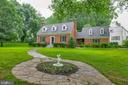Large front yard with privacy trees - 9701 CONNECTICUT AVE, KENSINGTON