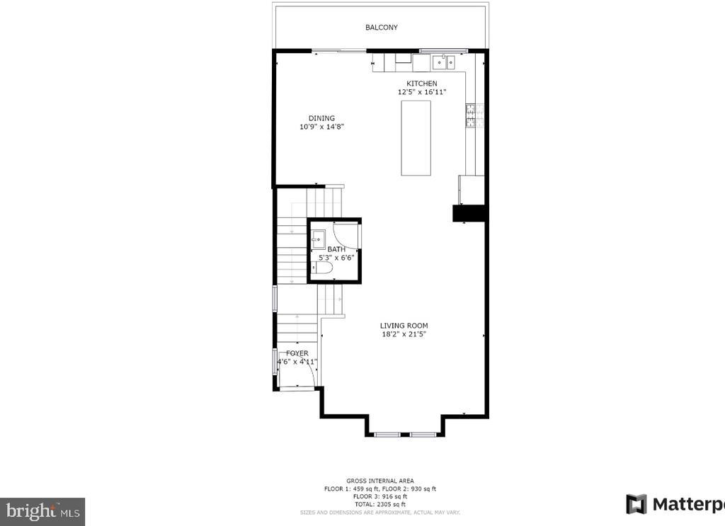 Main level floor plan - 48 SURVEYORS WAY, STAFFORD