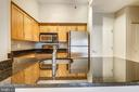 Kitchen - 7500 WOODMONT AVE #S205, BETHESDA