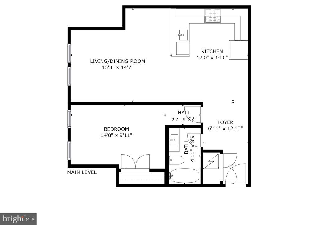 Floor Plan - 1821 I STREET NE #5, WASHINGTON
