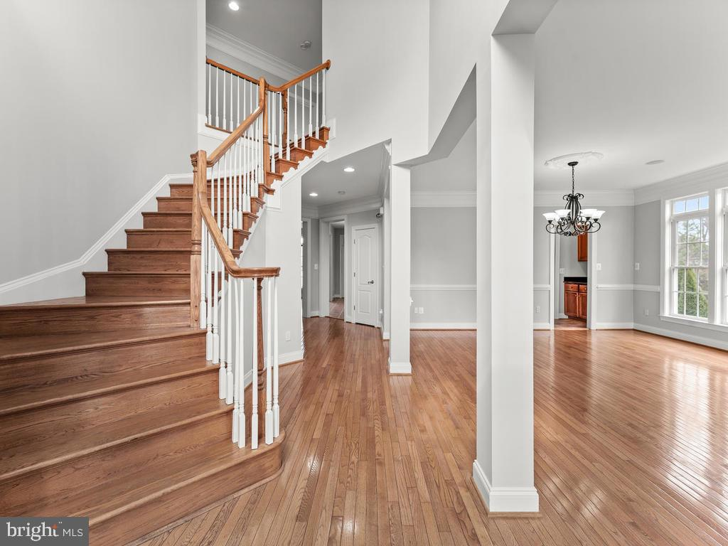 Grand Entry with Gleaming Hardwoods - 21826 ENGLESIDE PL, BROADLANDS